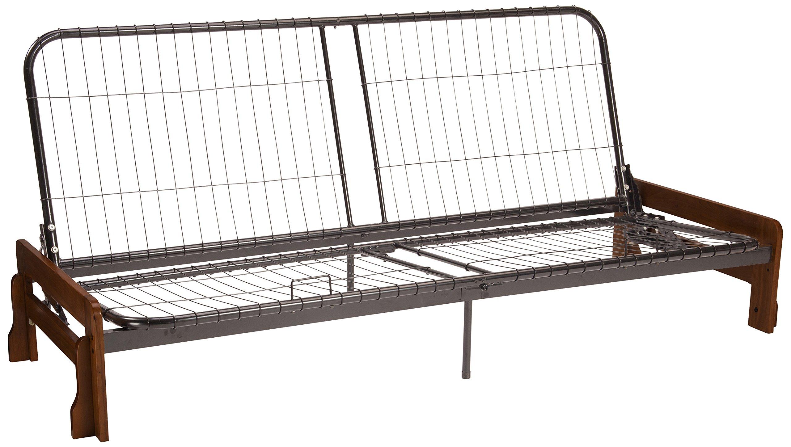 Bali Futon Sofa Sleeper Bed Frame, Full-size, Walnut Arm Finish by Epic Furnishings