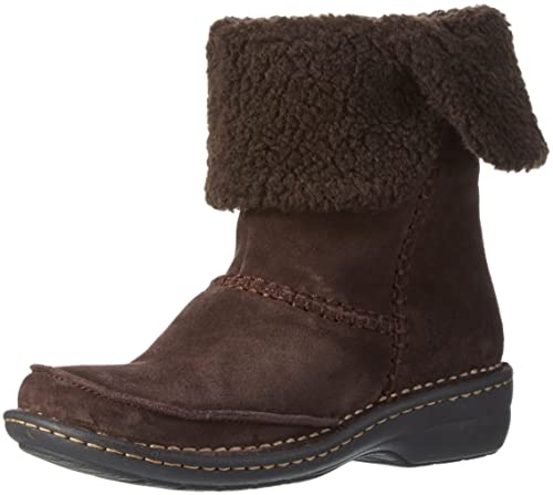 Clarks Women's Avington Grace Slouch Boots, Brown (Dark Brown Suede), 3.5 UK