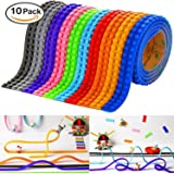 (10 Piece) Lego Tape For Bricks And Blocks, With Improved Non-Toxic Adhesive (3.2ft/roll) Over 32 Feet Total
