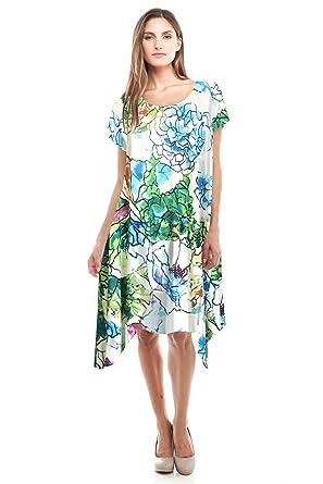 7f69f19d24 JC Womens Plus Size Flower Print Dress Made in USA 1XL 2XL 3XL at ...