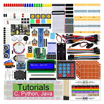 Freenove Ultimate Starter Kit for Raspberry Pi 4 B 3 B+, 434 Pages Detailed  Tutorials, Python C Java, 223 Items, 57 Projects, Learn Electronics and