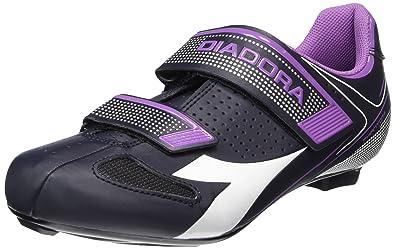 Diadora Phantom II W, Chaussures de Vélo de Route Femme - Multicolore (DK Smoke/White/vilet Orchid iris6040), 39