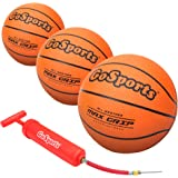 """GoSports 5"""" Mini Basketball 3 Pack with Premium Pump - Perfect for Mini Hoops"""