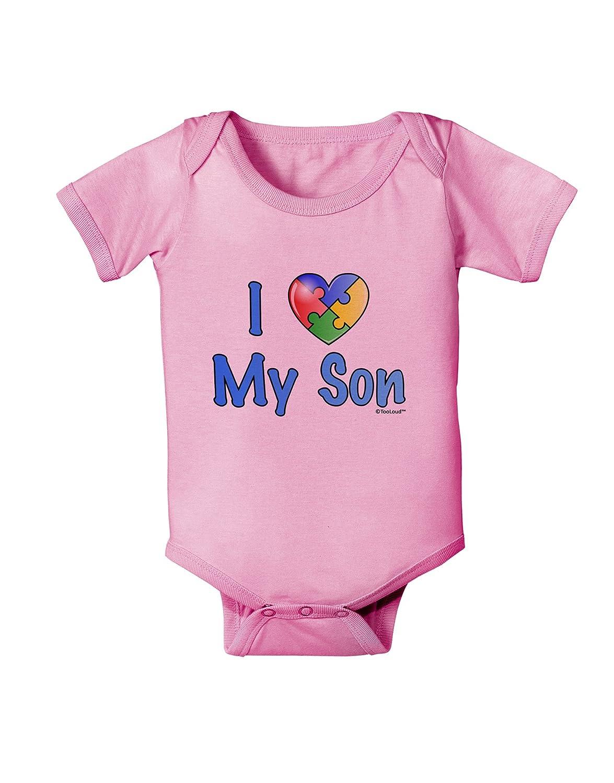 TooLoud I Heart My Son Autism Awareness Baby Romper Bodysuit