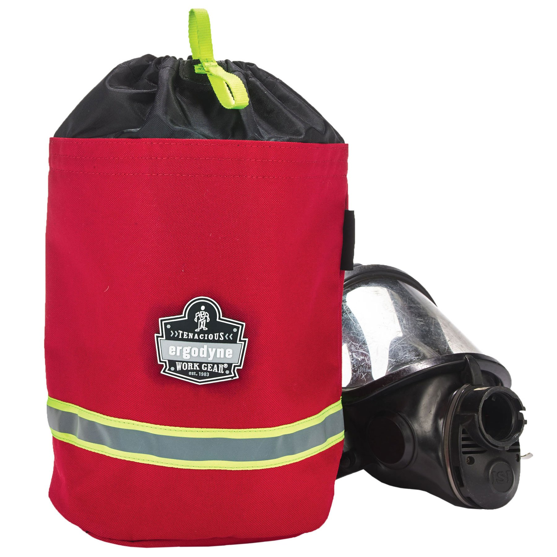 Ergodyne Arsenal 5080L Fireman's SCBA Respirator Firefighter Mask Bag for air pack with Fleece Lining