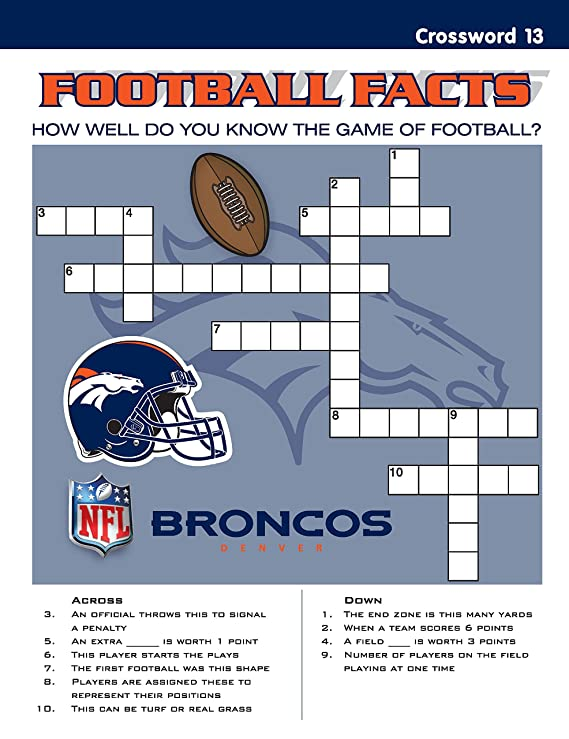93f6b392 In The Sports Zone NFL Denver Broncos Activity Book/Blue/Orange/One Size