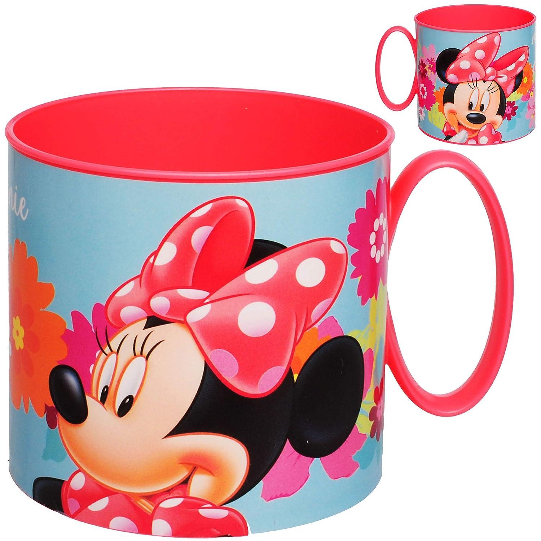 Minnie Mouse Kunststoff Plastik alles-meine.de GmbH Trinkbecher // Henkeltasse 250 ml BPA frei Trinklerntasse // Trinklernbec.. inkl Name Mikrowellen geeignet Disney