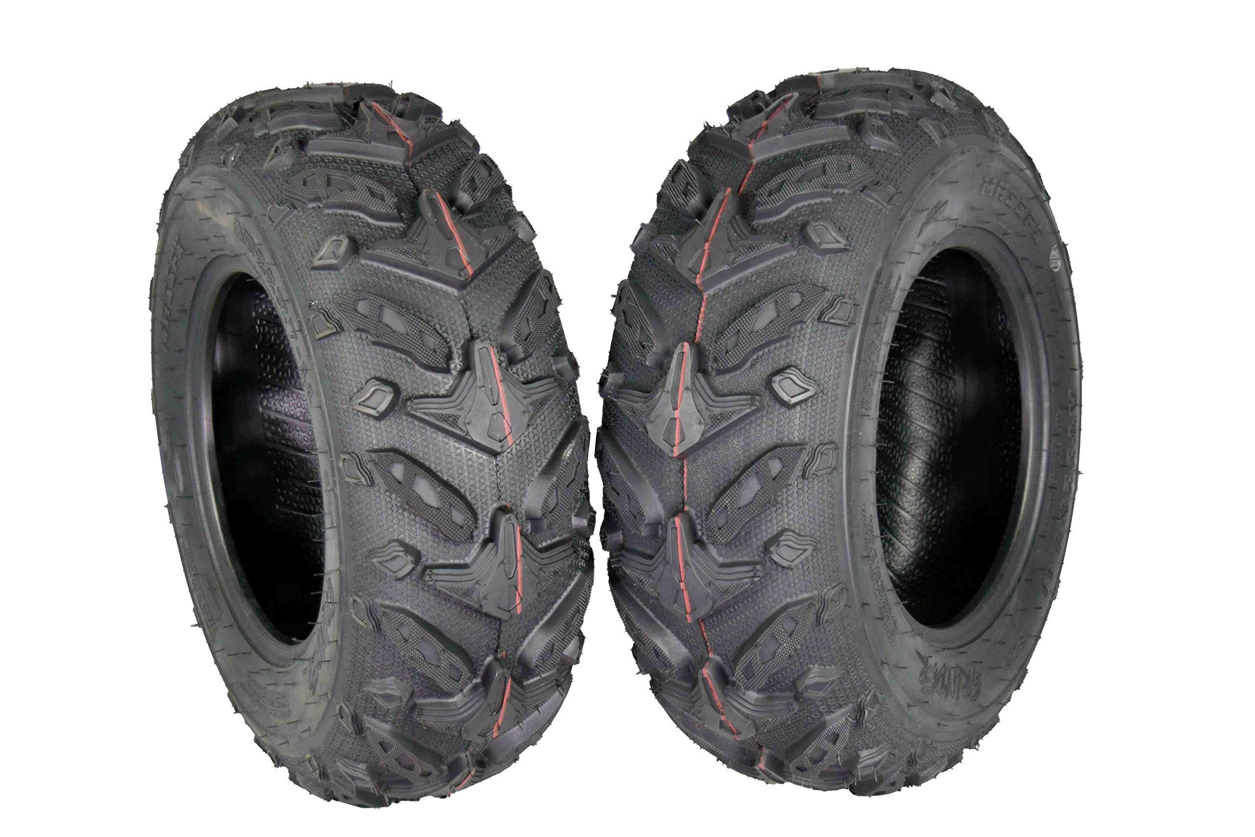 MASSFX Grinder Series ATV Dual Compound Tread Mud Sand Snow and Rock Tires (Two Front 22x7-11)