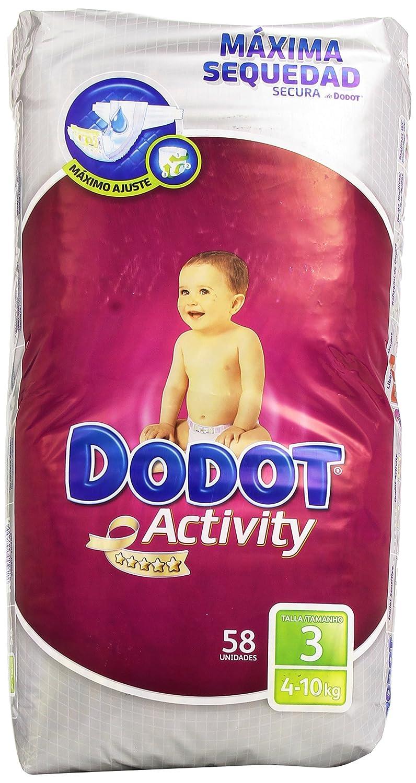 Dodot - Pañales para bebés Activity - Talla 3, 6-10 kg - 58 unidades Procter and Gamble Spain