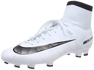 new product feaf9 30d1d Nike Mercurial Victory VI CR7 DF FG, Chaussures de Football Homme,  Blanc Teinte