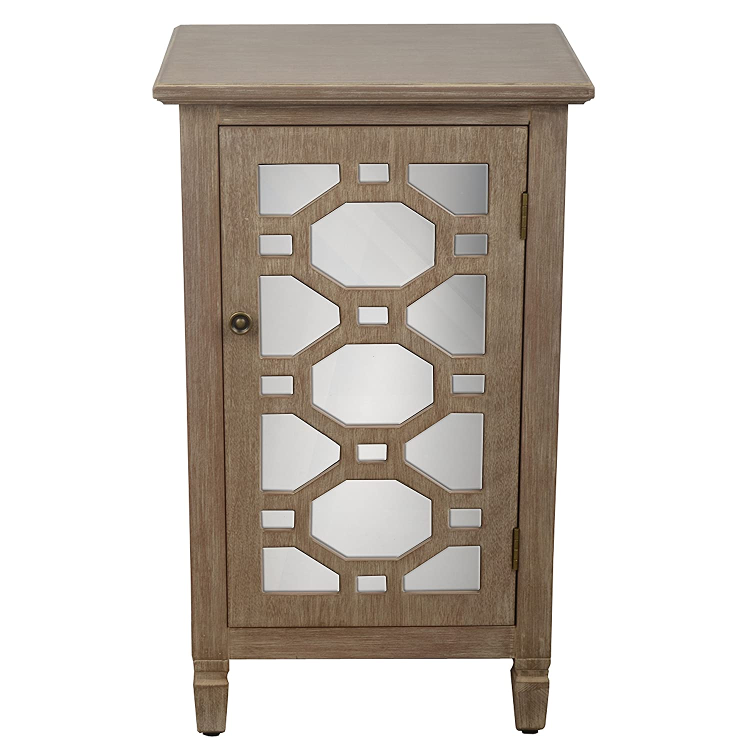 D/écor Therapy Fr6360 End Table Antique Iced Blue Décor Therapy