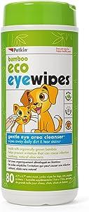 Petkin Bamboo Eco Eyewipes, 80 Count