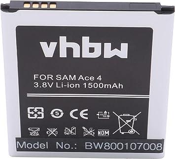 vhbw Li-Ion batería 1500mAh (3.8V) para teléfono móvil ...