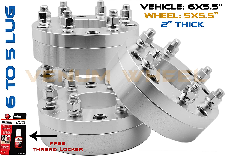 "4Pc 1.5/"" Thick 5x5 5x127 5Lug Wheel Spacers fits  1995-1999 Chevrolet Tahoe"