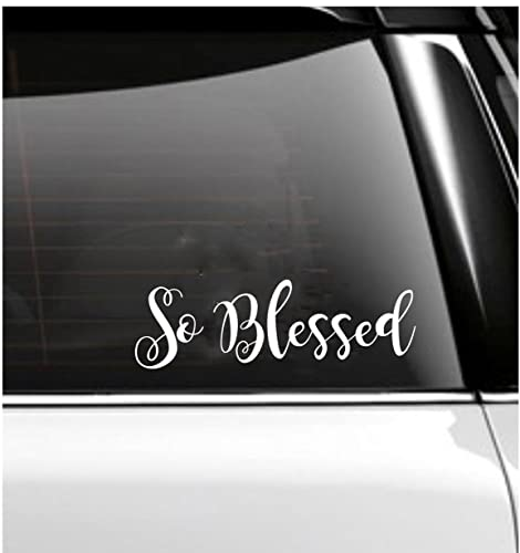 So blessed car decal tumbler decal