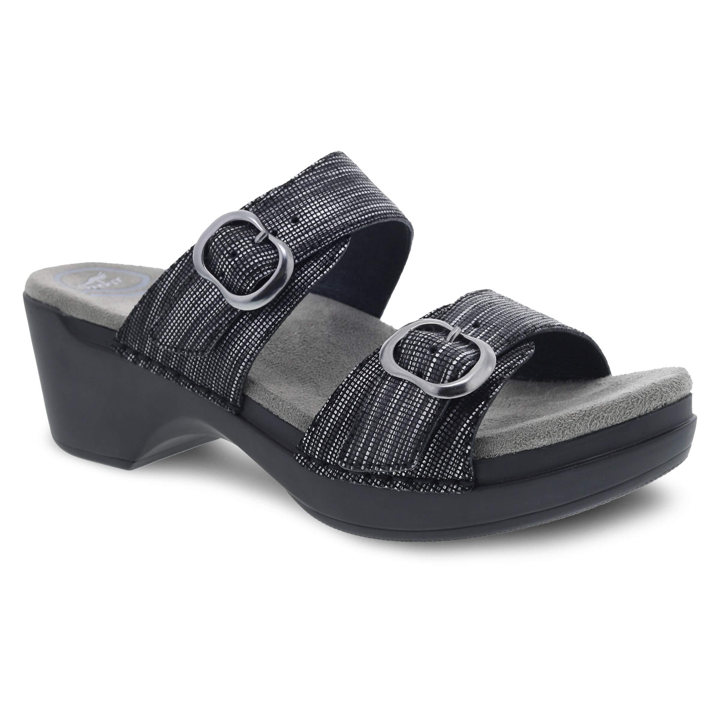 Dansko Women's Sophie Black Metallic Sandal 7.5-8 M US by Dansko