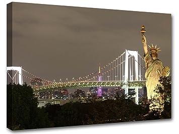 Stampe Cucina Moderna : Statua della libertà new york arredo design quadro moderno stampe