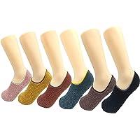 Women's Warm Cozy Slippers Floor Socks with Slip-Resistant Bottom Sole 6 Packs