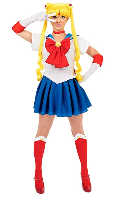 InCogneato Sailor Moon Adult Costume Red/Blue Small  sc 1 st  Amazon.com & Amazon.com: InCogneato Sailor Moon Adult Costume Red/Blue Small ...