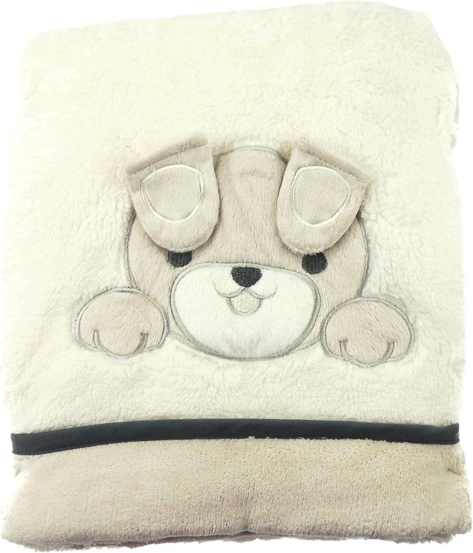 Manta para cochecito de beb/é dise/ño de cachorro en 3D Glamour Girlz