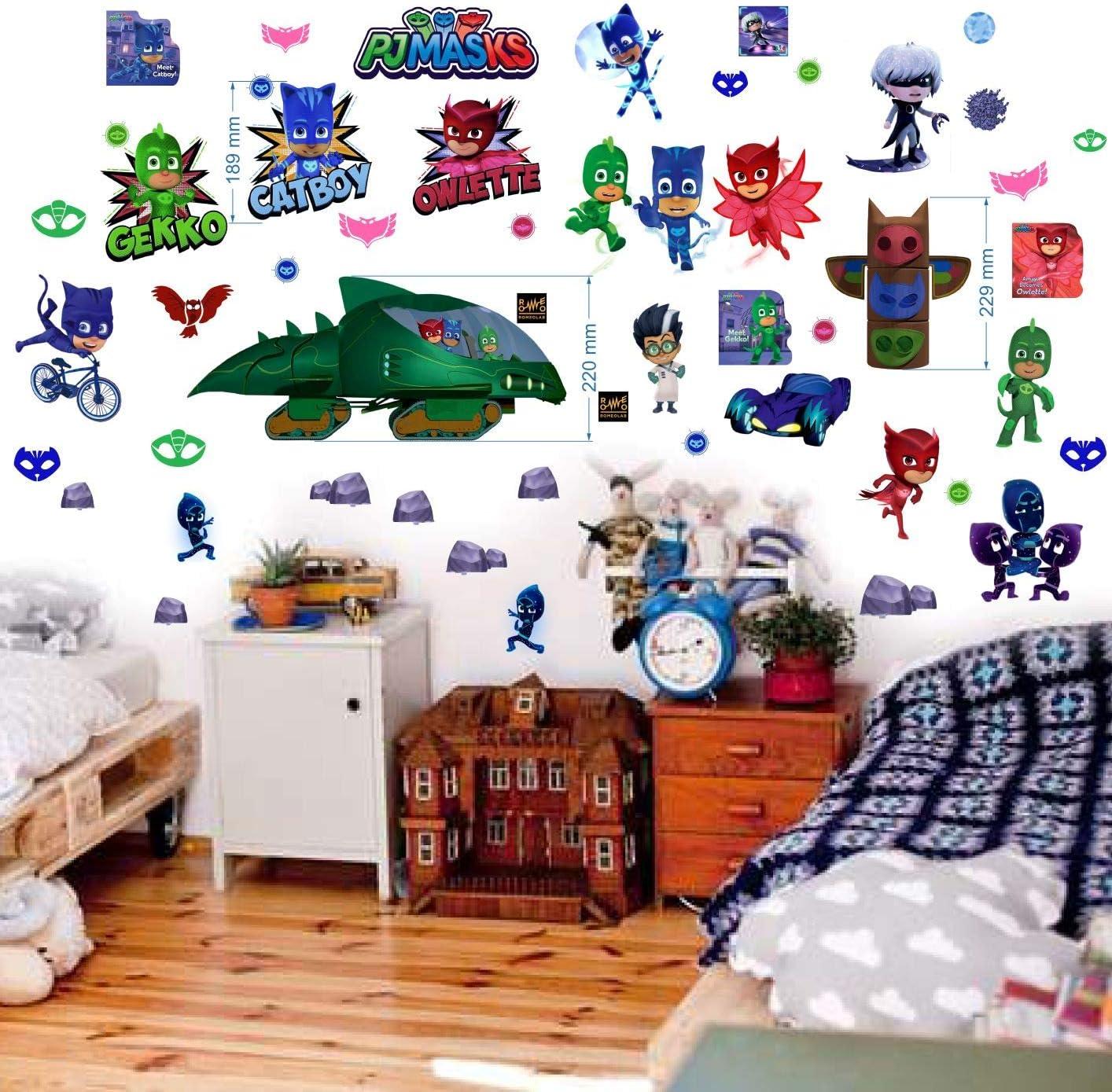 PJ Mask - Adhesivo decorativo para pared, diseño de PJ Mask ...