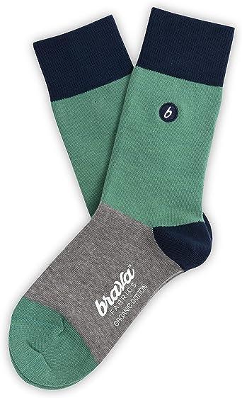 Brava Fabrics - Calcetines - Calcetines de Algodón Orgánico - 100% Algodón Orgánico - Calcetines Verde: Amazon.es: Ropa y accesorios