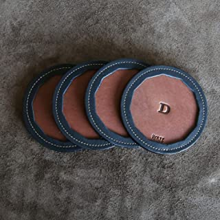 product image for The Tavern Fine Leather Coaster Set of 4