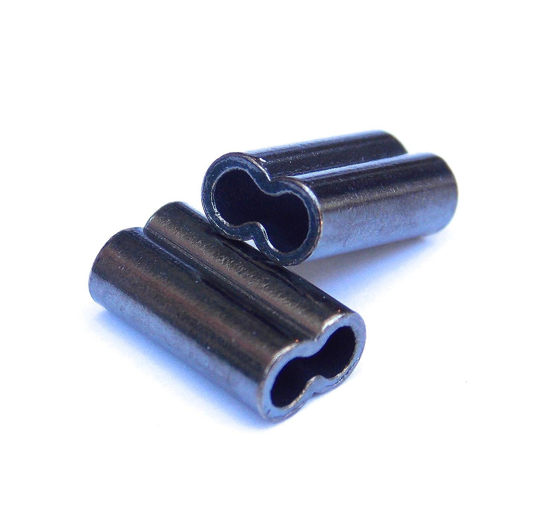 Mini Copper Double Barrel Crimp Kit 100pcs each 1.2,1.4,1.6,1.8mm 100-250lb