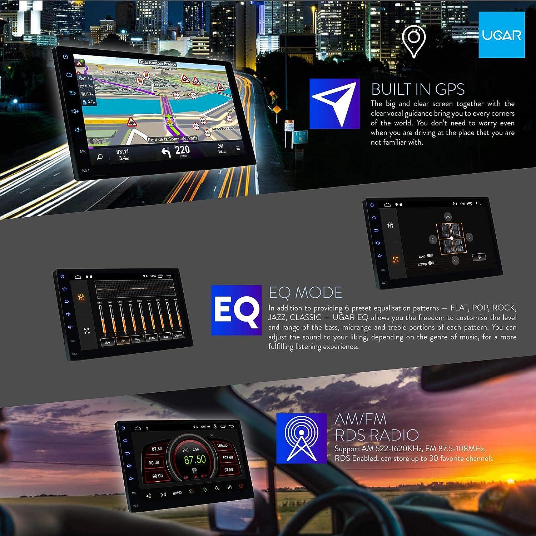 307 E 2006-2012, 207 UGAR EX9 7 Android 9.0 Autoradio mit 11-091 Doppel DIN Radioblende Dash Installation Faszie Kit f/ür Citroen C2 2003-2009; C3 2001-2010; Berlingo 2008+; Jumpy 2007-2016 // FIAT Scudo 2007+ // Peugeot 2001-2008