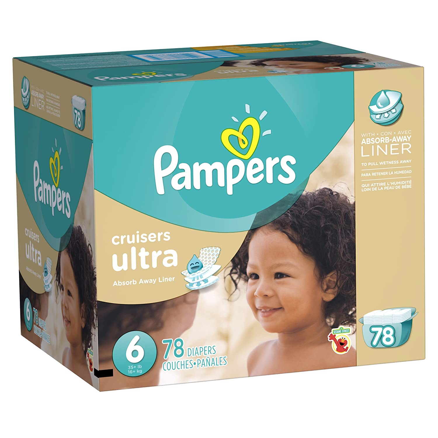 Amazon.com: Pampers Cruisers Ultra, Size 6, 78 Count: Health & Personal Care