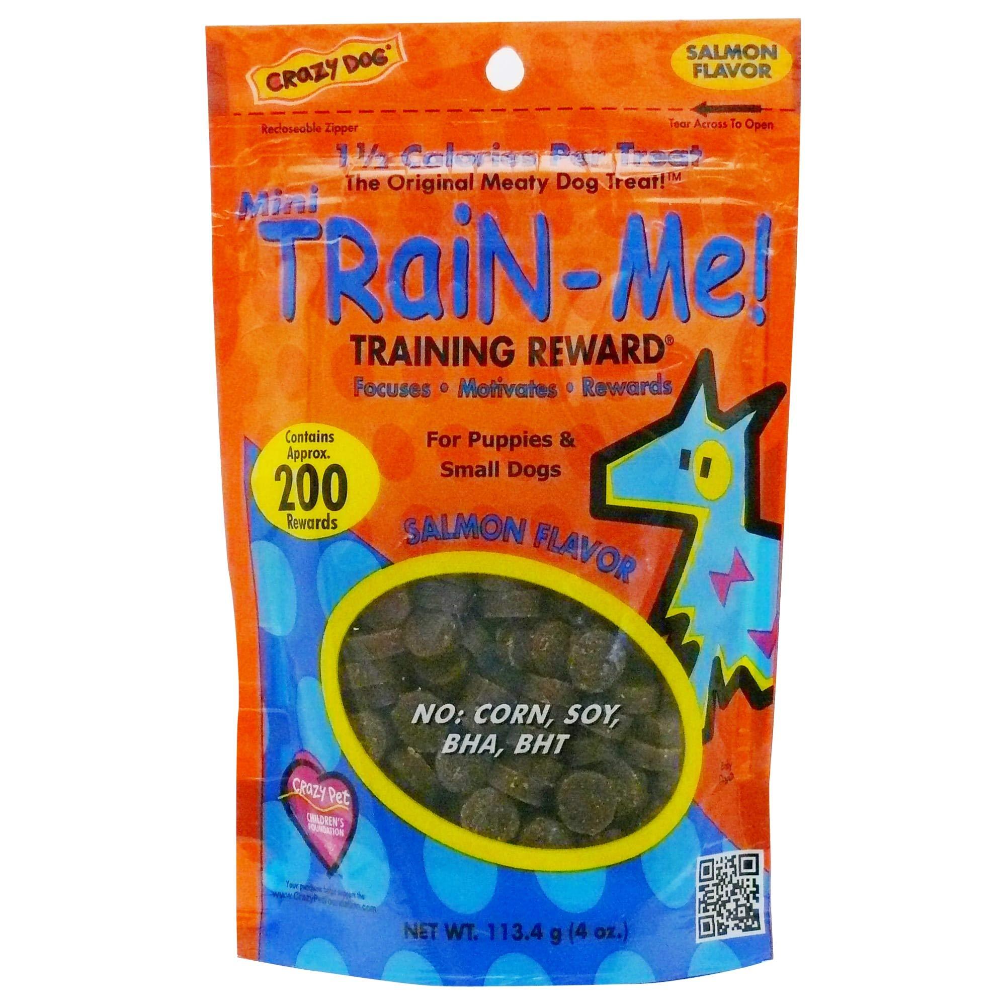 Crazy Dog Train-Me! Training Reward Dog Treats 16 Oz., Bacon Regular