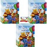 Amazon disney pooh piglet tigger kanga baby birthday winnie the pooh party invitations 24 pack filmwisefo