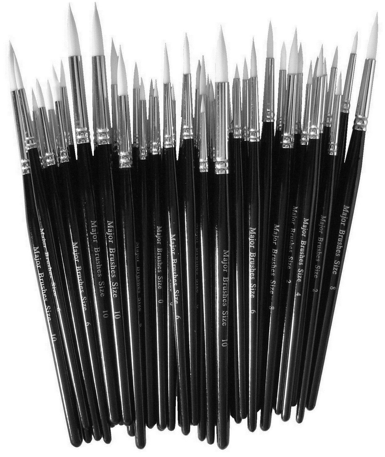 Paint brushes MAJOR OIL//ACRYLIC PAINTS NEW packs of 10 Major Brush No 6