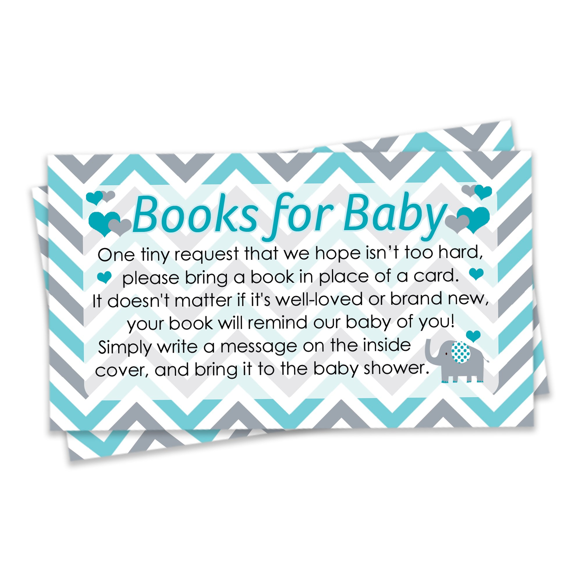 Amazon.com: Diaper Raffle Tickets - Teal Blue Elephant Baby Shower ...