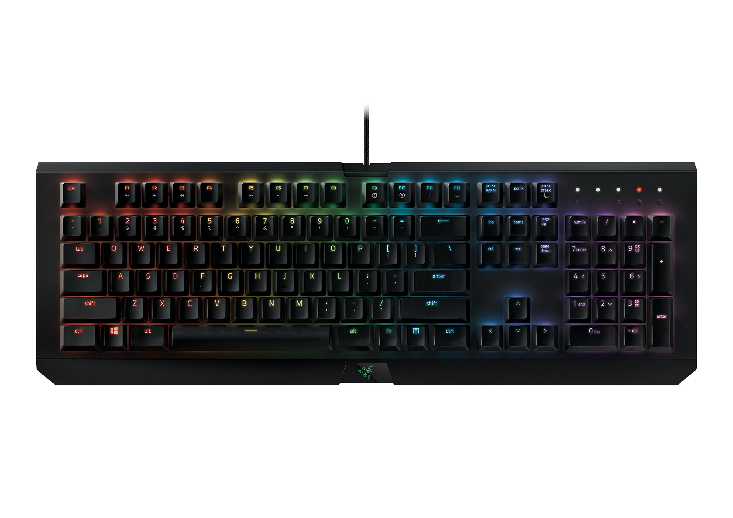 Razer BlackWidow X Chroma: Esports Gaming Keyboard - Military Grade Metal Construction - Durable up to 80 Million Keystrokes - Powered by Razer Chroma - Razer Green Mechanical Switches (Tactile and Clicky)