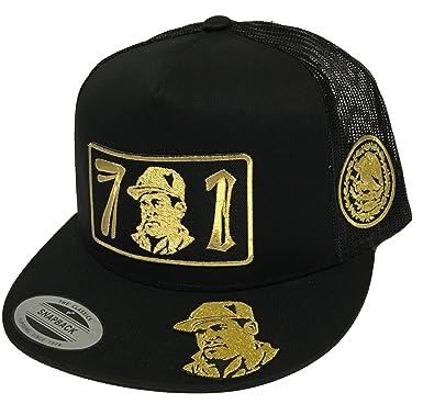 91ff02cc481 Image Unavailable. Image not available for. Color  El Chapo Guzman Hat  Black Mesh Snapback ...