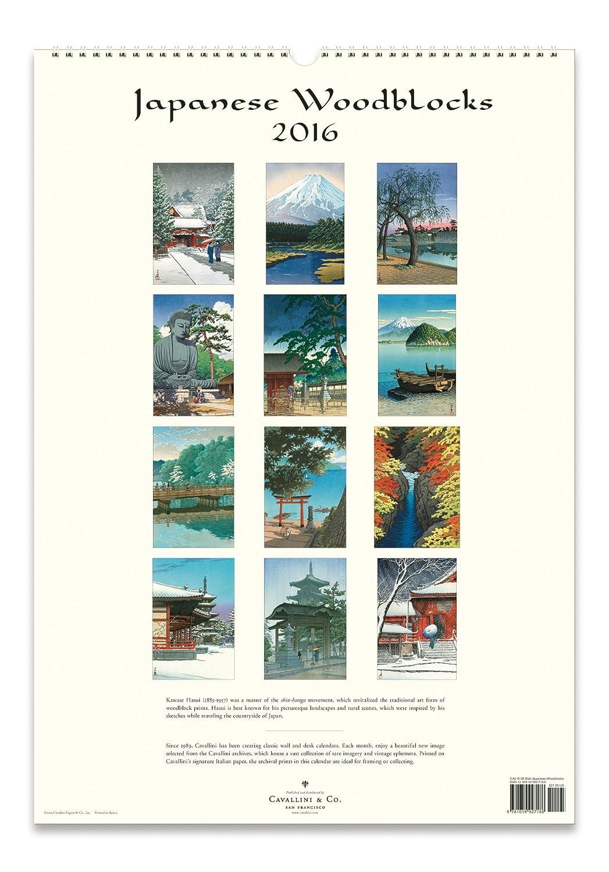 Amazon.com: Cavallini Papers 2016 Japanese Woodblocks Wall Calendar ...