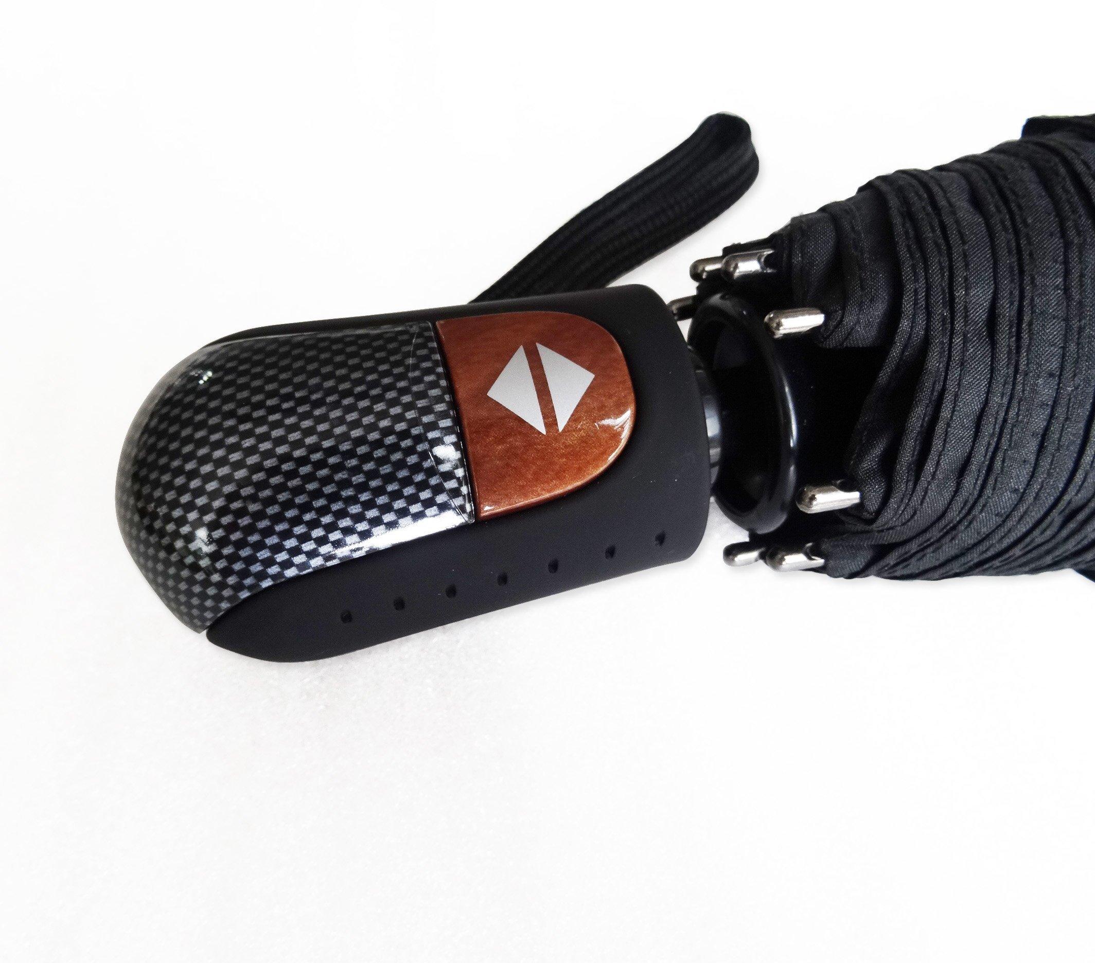 Umenice Auto Open And Closed travel umbrella 9 Ribs Black by Umenice (Image #5)