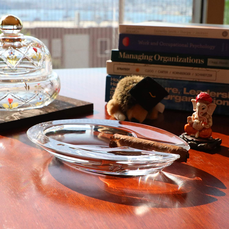 Fatto a Mano Long with 2 Holders Piscina Ufficio Hotel casa Interni Pasabahce Posacenere in Cristallo per Cortile Ristorante per Esterni