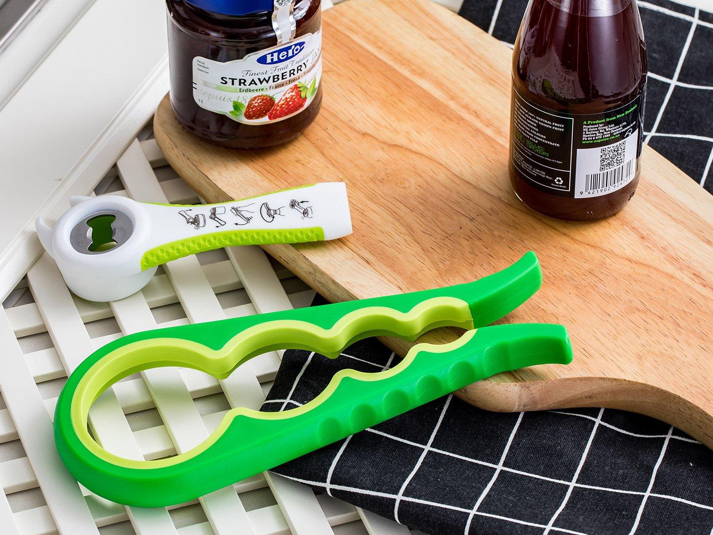 Abrelatas y Abrebotellas, Abrelatas Manuales para Cocina Restaurante Bar Fiesta con Ahorro de Mano de Obra (Verde)