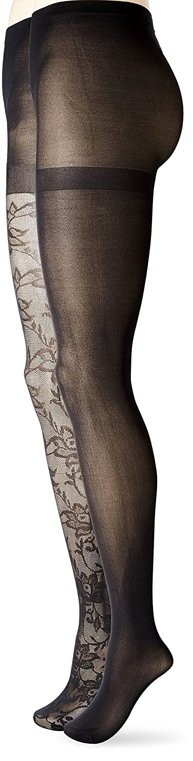 825d75ef8f1 Isaac Mizrahi New York Women s Gothic Floral Tights (2-Pack)  Amazon.ca   Clothing   Accessories