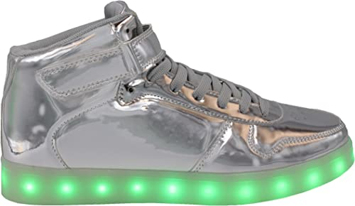 Transformania Toys Galaxy LED Shoes Light Up USB Charging High Top Lace & Strap Sneakers