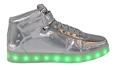 72a0bcab25e9 Transformania Toys Galaxy LED Shoes Light Up USB Charging High Top Lace    Strap Women s Sneakers