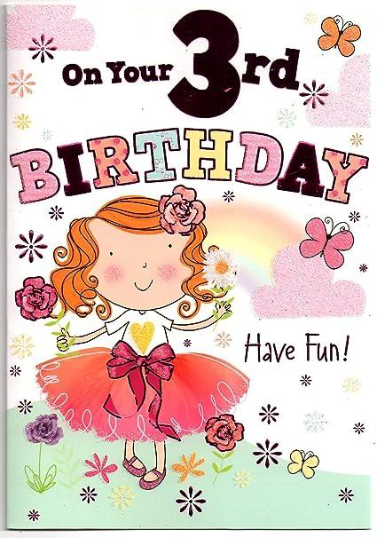 Tarjeta de cumpleaños para tres (3) años de edad (envío ...