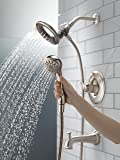 Delta Faucet Linden 17 Series Dual-Function Tub and Shower Trim Kit with 2-Spray In2ition 2-in-1 Hand Held Shower Head with Hose, Stainless T17494-SS-I