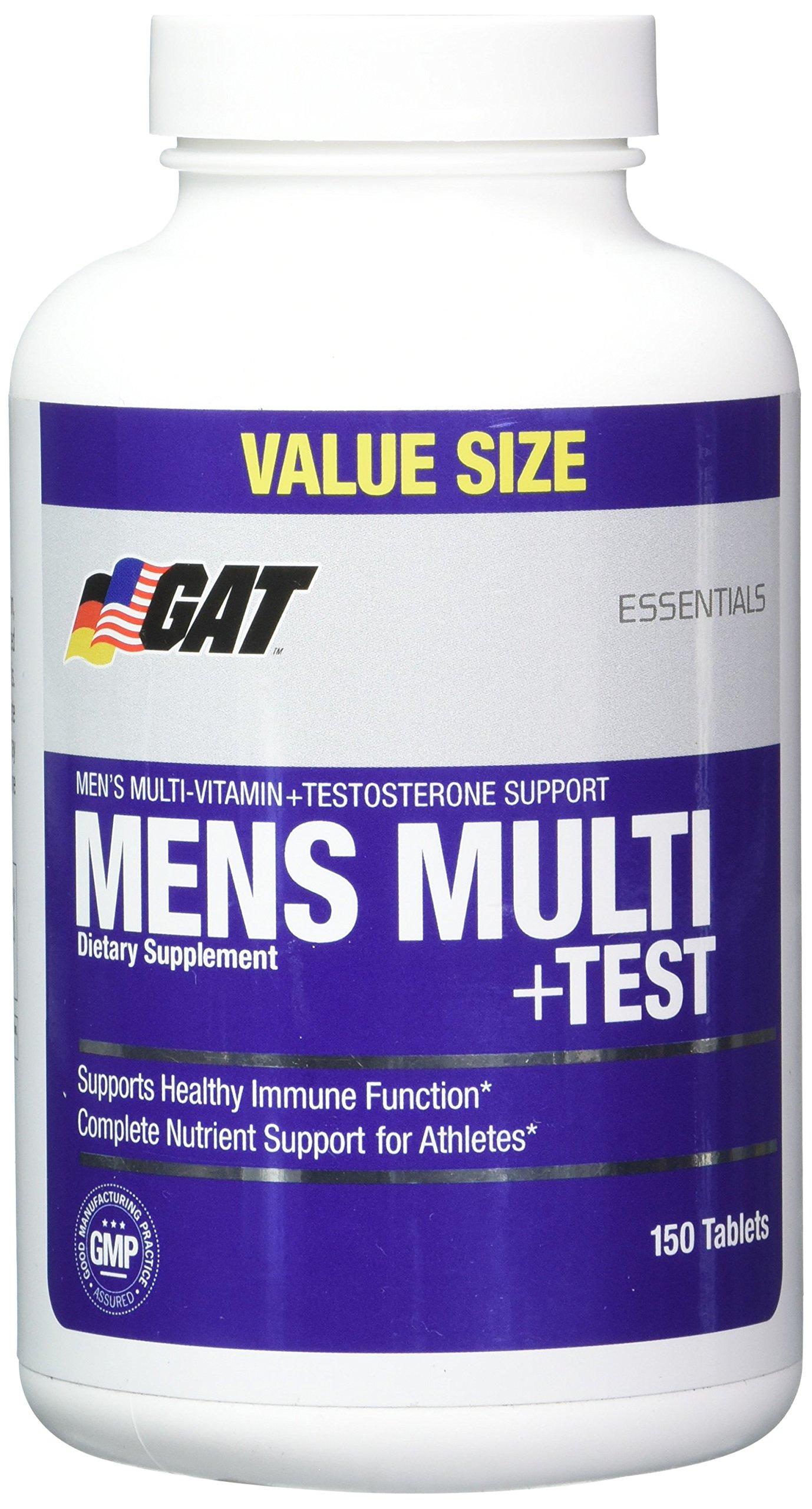 GAT Men Multi Plus Test Capsules, 150 Count