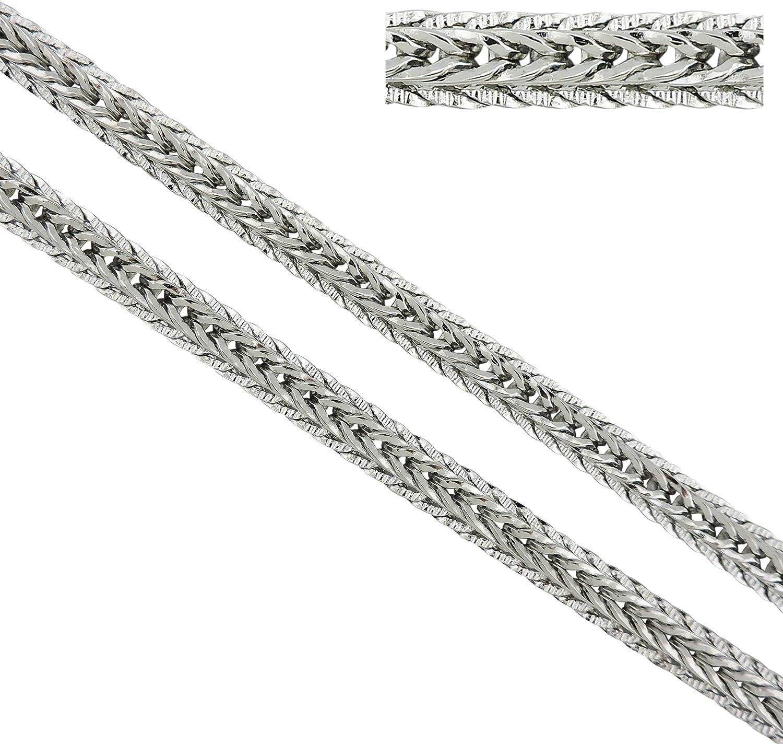 8 1,8 mm acero cadena 38 hasta 60 cm de acero inoxidable Diseño grave cadena serpientes sc1