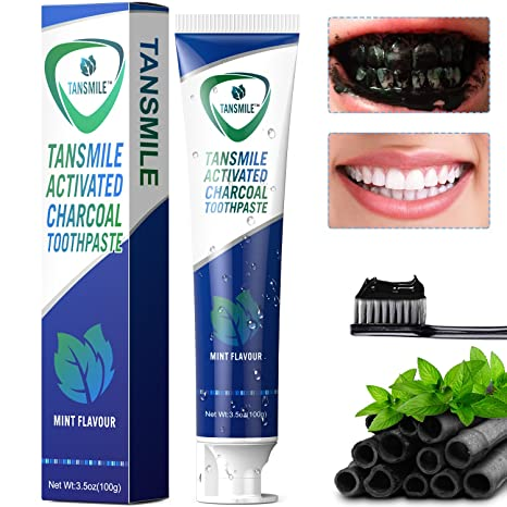 buy tansmile charcoal toothpaste natural activated charcoal teeth