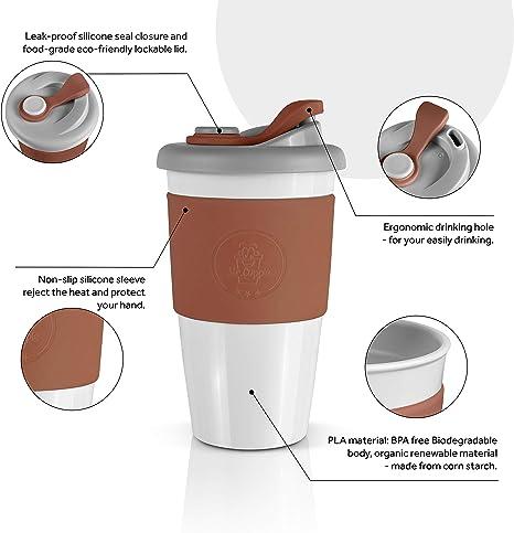 Compañia reutilizables de Eco Friendly BPA Gratis Taza De Café Taza De Viaje Aislado