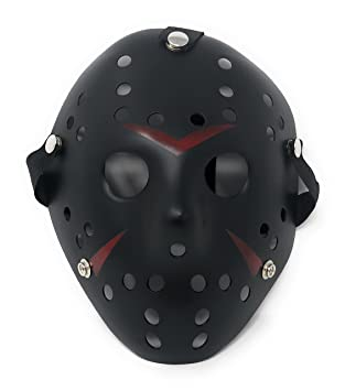 Ultra Fancy Dress Jason X vS Freddy Halloween Friday The 13th Hockey Masks in Silver Gold